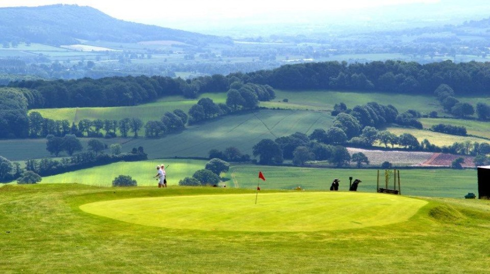 Kington Golf Course which is 12 miles from the house, the highest course in England