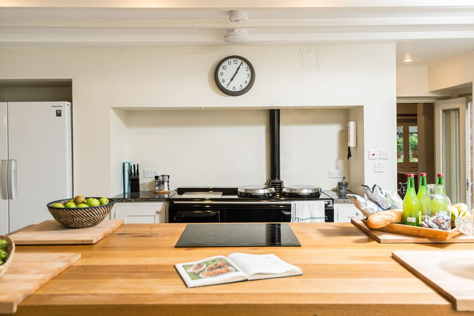 Very sociable kitchen with huge island - perfect for chopping and chatting