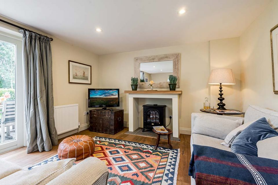 The sitting room in the cottage - a lovely place if you need some peace away from the crowd