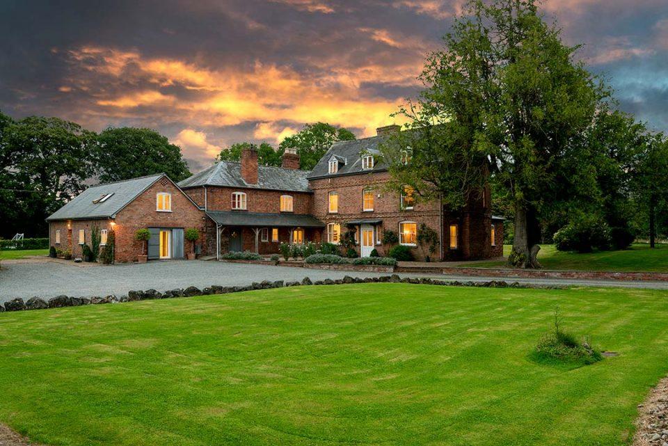 Monnington House at dusk