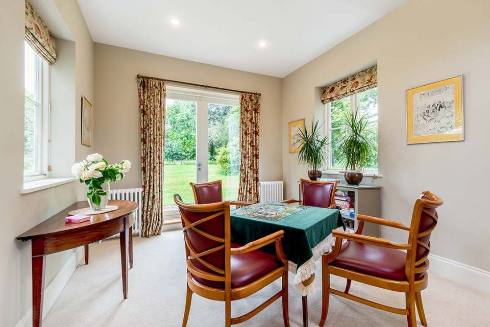 Bridge table in drawing room - cards and board games provided