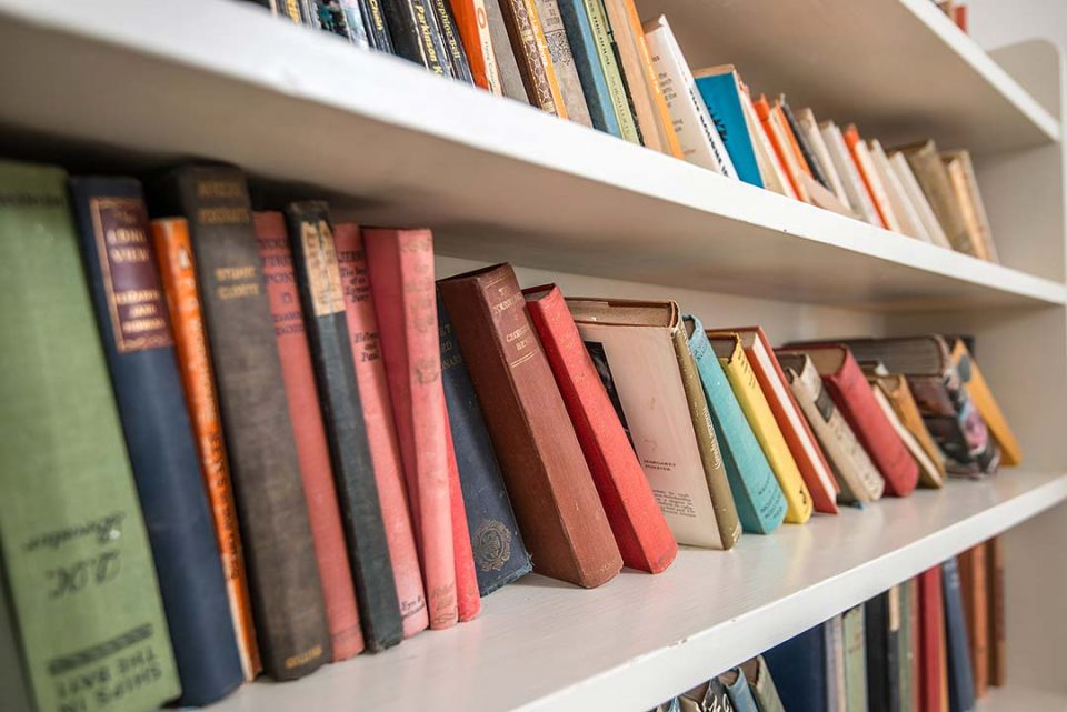There are lots and lots of book in the house. Visit Hay on Wye to browse for more!