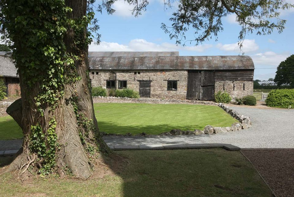 View of outbuildings where the games room and table tennis room are located