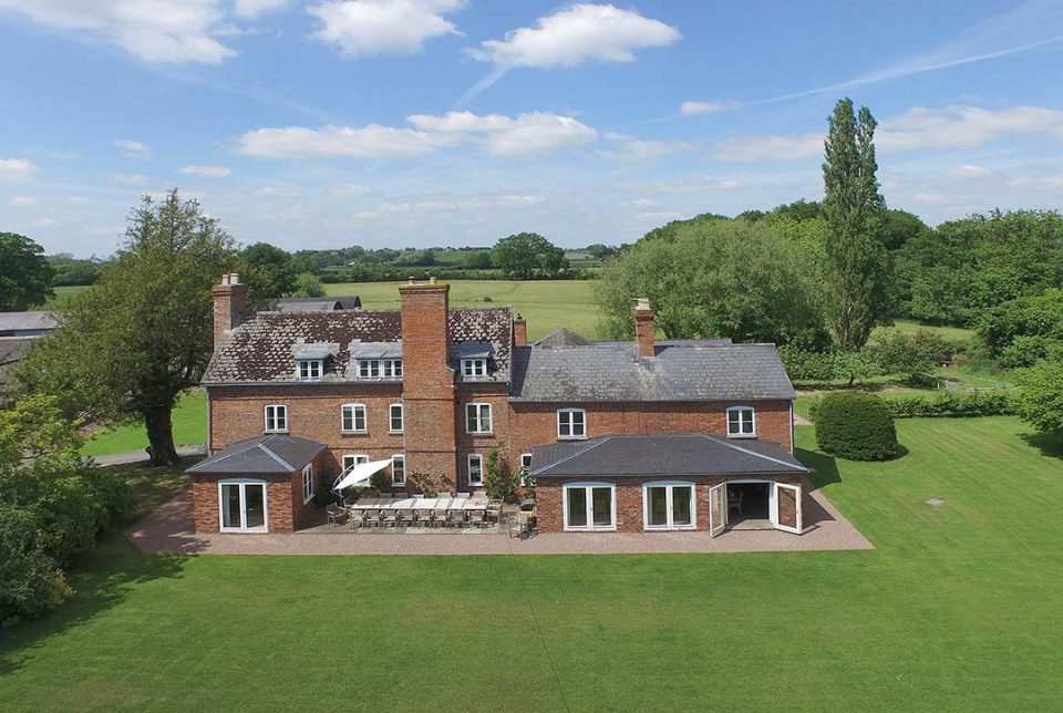Overview of Monnington House and cottage and huge 2 acre garden